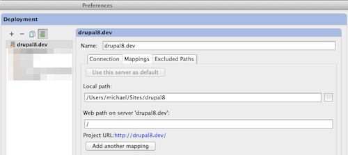 Deployment server mappings