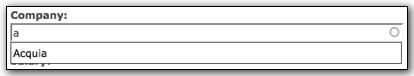 Drupal's autocomplete widget
