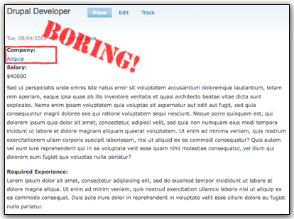 the unfinished job listing