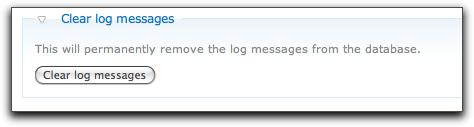 Drupal 7 clear log messages