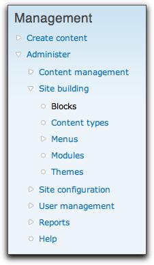 Drupal 7 content types menu