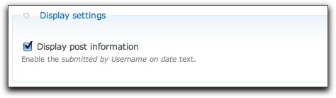 Drupal 7's display settings