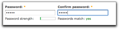 Drupal 7's updated password checker.