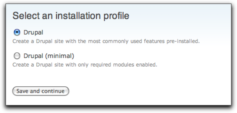 Drupal 7 install profiles