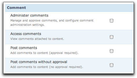 Drupal 7 additional info on the permissions page