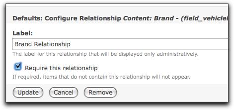 relationship settings