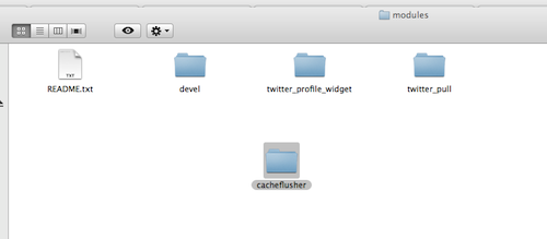 The sites/all/modules folder
