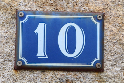 """10"" house number plate"