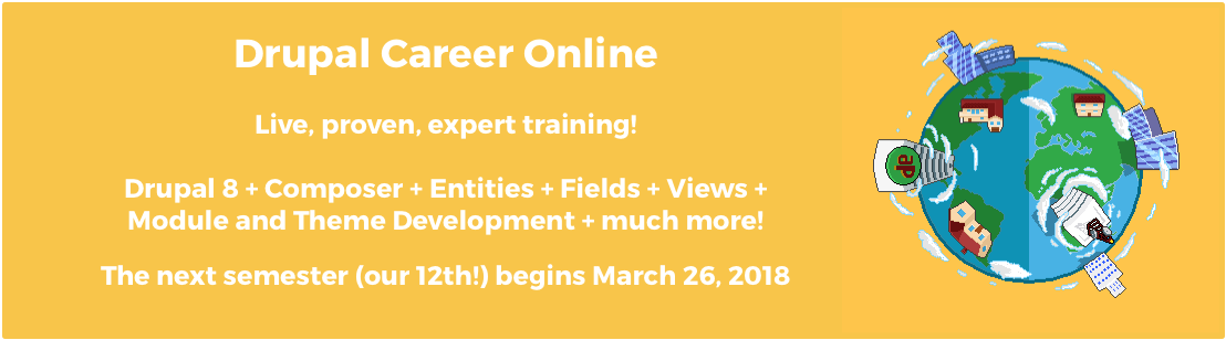 Drupal Career Online Spring 2018