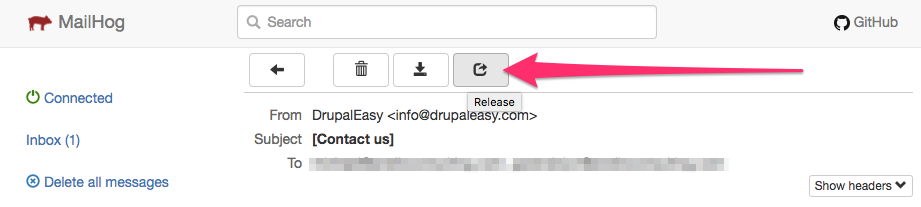 Mailhog release button