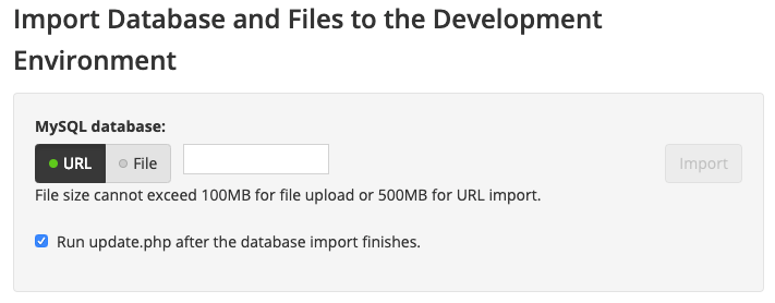 Pantheon database import interface