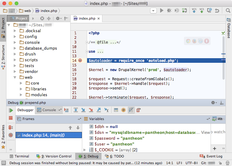 PhpStorm debugger working.