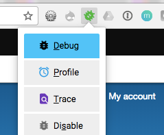Xdebug helper enable debugging