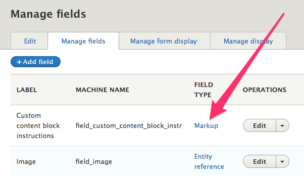 Using the Markup module to add content to your entity forms