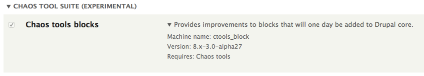Chaos Tools Blocks module