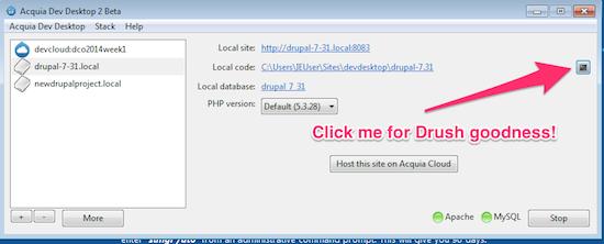Acquia Dev Desktop Drush integration