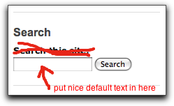 default Drupal search block