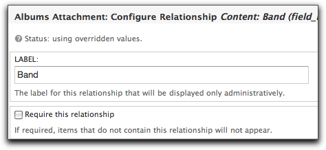 Using Views Relationships, Arguments, and Attachments