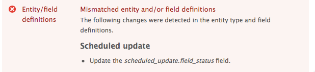 """Mismatched entity and/or field definitions"" error"