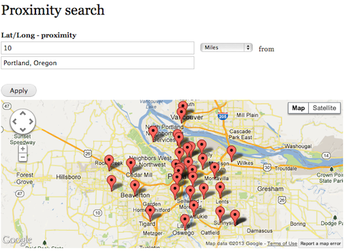 Proximity search