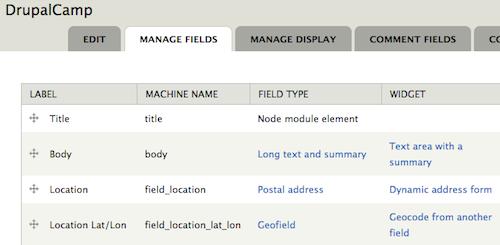 DrupalCamp content type
